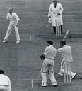 John Edrich drives Bryan Yuile on his way to 310*, England v New Zealand, 3rd Test, Headingley, July 9, 1965