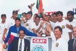 The victorious Indian U19 team - the new World Champions, Under-19s World Cup, 1999-00, final, Sri Lanka Under-19s v India Under-19s, Sinhalese Sports Club Ground, Colombo, 28 January 2000