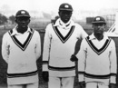 Learie Constantine, Joe Small and Barto Bartlett at Burbage Road, Dulwich v West Indians, Dulwich, May 1, 1928