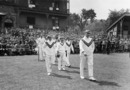 Warwick Armstrong leads Australia onto the field , England v Australia, 1st Test, Trent Bridge, May 28, 1921