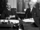 Sir William Reginald Hall,  a leading figure in British naval intelligence during World War I, with statesman and cricketer Colonel Frank Stanley Jackson, November 1923