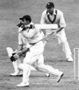 Vijay Merchant drives to the off side, England v India, 3rd Test, The Oval, 2nd day, August 19, 1946