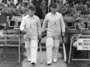 Emrys Davies and Arnold Dyson step out to open for Glamorgan, 1948