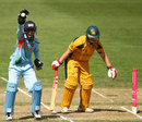 Anagha Deshpande appeals successfully for a stumping against Karen Rolton, Australia v India, Super Six, women's World Cup, Sydney, March 14, 2009