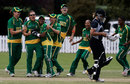 Charlize van der Westhuizen is congratulated for the wicket of Suzie Bates, New Zealand v South Africa, Group A, women's World Cup, Bradman Oval, Bowral, March 12, 2009