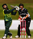 Nain Abidi launches into one, New Zealand v Pakistan, women's World Cup, Super Six, Drummoyne Oval, Sydney, March 19, 2009