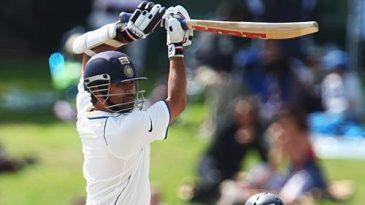 Sachin Tendulkar punches off the back foot