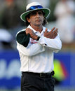 Asad Rauf changes a leg-bye to a run giving Jacques Kallis his century