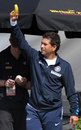 Sachin Tendulkar celebrates India's win with a banana, New Zealand v India, 1st Test, Hamilton, 4th day, March 21, 2009