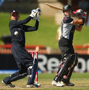 Kate Pulford cuts past point, England v New Zealand, women's World Cup final, Sydney, March 22, 2009