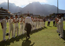 A guard of honour for Steve Bucknor in his final Test, South Africa v Australia, 3rd Test, 4th day, Cape Town, March 22, 2009