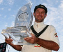 A beaming Ricky Ponting with the series trophy, South Africa v Australia, 3rd Test, 4th day, Cape Town, March 22, 2009