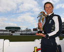 Charlotte Edwards poses with the World Cup