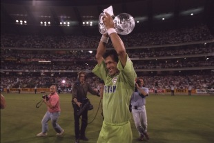 Imran Khan lifts the World Cup, England v Pakistan, World Cup final, Melbourne, March 25,1992
