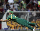 Albie Morkel completes a diving catch to get rid of James Hopes, South Africa v Australia, 2nd Twenty20, Centurion, March 29, 2009