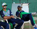 Michael Vandort and Ajantha Mendis watch a game in progress, Kandurata v Wayamba, Inter-Provincial Twenty20, Colombo, SSC, March 31, 2009