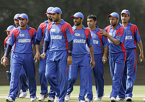 Afghanistan celebrate a strike, Afghanistan v Denmark, ICC World Cup Qualifiers, Johannesburg, April 1, 2009