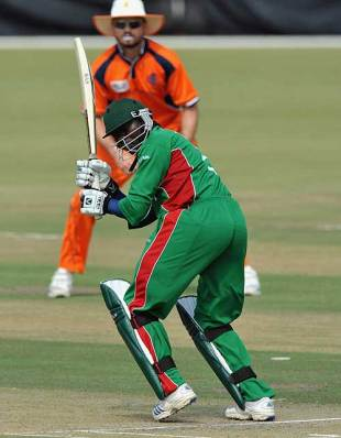 Steve Tikolo clips the ball off his pads, Kenya v Netherlands, ICC World Cup Qualifiers, Potchefstroom, April 1, 2009