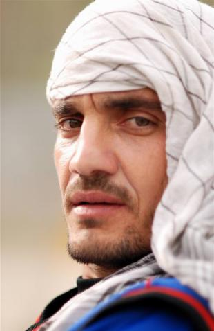 Close-up of Raees Ahmadzai of Afghanistan, April 2009