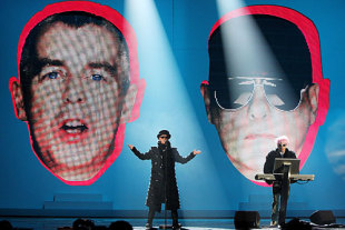The Pet Shop Boys perform at the Brit Awards, London, February 18, 2009
