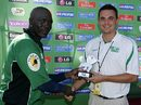 Kennedy Otieno was the Man of the Match, Denmark v Kenya, World Cup Qualifiers, Potchefstroom, April 8, 2009