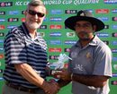 UAE's Fayyaz Ahmed collects his Man-of-the-Match award, Ireland v UAE, ICC World Cup Qualifiers, Super Eights, Johannesburg, April 13, 2009