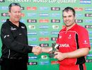 Ian Billcliff picks up his Man-of-the-Match award, Afghanistan v Canada, ICC World Cup Qualifiers, Super Eights, Pretoria, April 13, 2009
