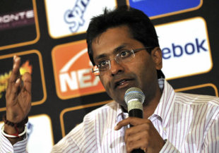 Lalit Modi speaks at a press conference, Cape Town, April 14, 2009