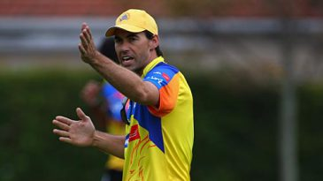 Stephen Fleming during a Chennai Super Kings practice session