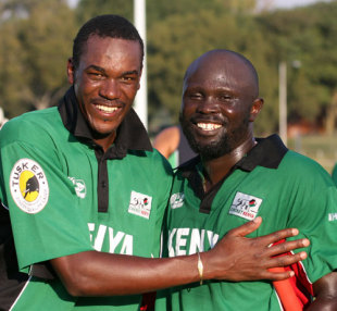 Man of the Match Collins Obuya and Thomas Odoyo, Ireland v Kenya, ICC World Cup Qualifiers, April 17, 2009