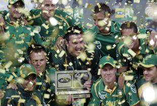 The South African team with the series trophy, South Africa v Australia, 5th ODI, Johannesburg, April 17, 2009