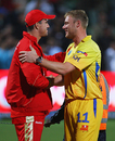 Contrasting fortunes no doubt for Kevin Pietersen and Andrew Flintoff, Bangalore Royal Challengers v Chennai Super Kings, IPL, 5th game, Port Elizabeth, April 20, 2009