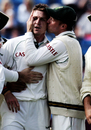 AB de Villiers kisses Dale Steyn on getting a wicket, England v South Africa, 2nd Test, Leeds, 4th day, July 21, 2008