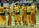 The Australians celebrate another dismissal, Pakistan v Australia, 1st ODI, Dubai, April 22, 2009