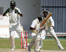 Taurai Madhiri of Westerns is bowled by Natsai Mushangwe, Easterns v Westerns, Logan Cup, Harare Sports Club, April 24, 2009