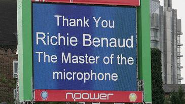 The big screen pays tribute to Richie Benaud