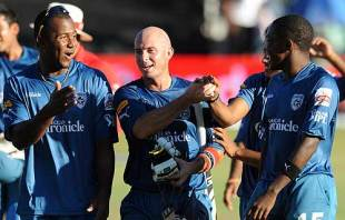 Herschelle Gibbs walks off after winning Deccan the match, Chennai Super Kings v Deccan Chargers, IPL, 16th match, Durban, April 27, 2009