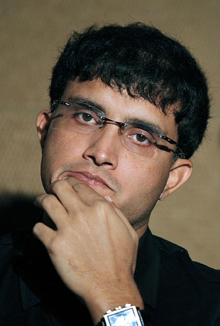 A reserved Sourav Ganguly during a press conference, Durban, April 28, 2009