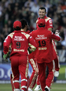 Team-mates rush in to congratulate Dillon du Preez, Royal Challengers Bangalore v Mumbai Indians, IPL, 28th match, Johannesburg, May 3, 2009
