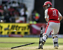 Simon Katich's offstump goes for a walk, Kings XI Punjab v Rajasthan Royals, 30th match, IPL, Durban, May 5, 2009