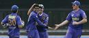 Amit Singh gets the congratulations after dismissing Sunny Sohal, Kings XI Punjab v Rajasthan Royals, 30th match, IPL, Durban, May 5, 2009