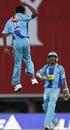 Rohan Raje jumps for joy after removing Adam Gilchrist, Deccan Chargers v Mumbai Indians, IPL, 32nd match, Centurion, May 6, 2009