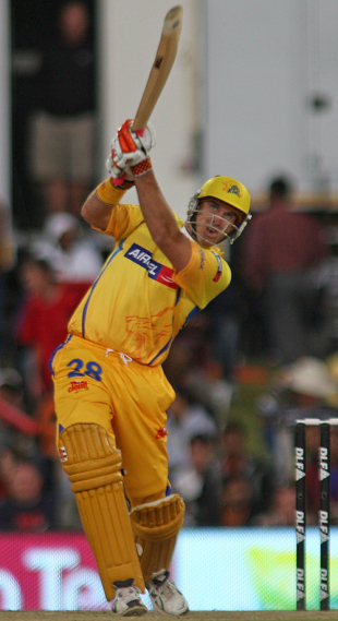 Matthew Hayden lofts it into the stands, Chennai Super Kings v Kings XI Punjab, IPL, 34th match, Centurion, May 7, 2009