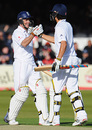 Andrew Strauss and Alastair Cook celebrate England's ten-wicket win, England v West Indies, 1st Test, Lord's, May 8, 2009