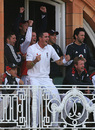 Kevin Pietersen leads the celebrations as England raced to a 10-wicket win, England v West Indies, 1st Test, Lord's, May 8, 2009