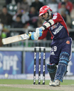 Dinesh Karthik pushes it towards cover, Delhi Daredevils v Kolkata Knight Riders, IPL, 39th match, Johannesburg, May 10, 2009