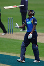 Dimitri Mascarenhas tosses his bat in frustration after falling for 18, Worcestershire v Hampshire, Friends Provident Trophy, New Road, May 14, 2009