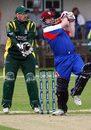 Gavin Beath bats, Guernsey v Japan, World Cricket League Division 7, Guernsey
