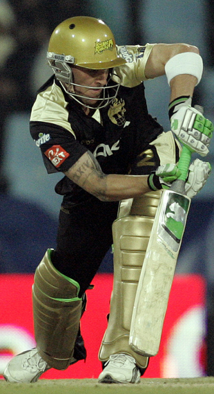 Brendon McCullum pushes one on the leg side, Chennai Super Kings v Kolkata Knight Riders, IPL, 51st match, Centurion, May 18, 2009