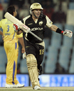 Brad Hodge rejoices after Kolkata's second win in the tournament, Chennai Super Kings v Kolkata Knight Riders, IPL, 51st match, Centurion, May 18, 2009
